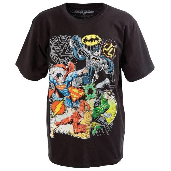 Big Boys' Short Sleeve Justice League Tee