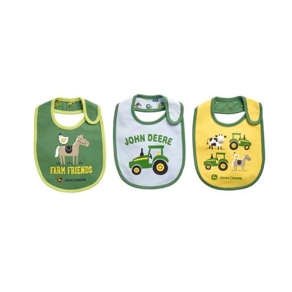 Baby Boys' 3-Pack Farm Friends Bibs