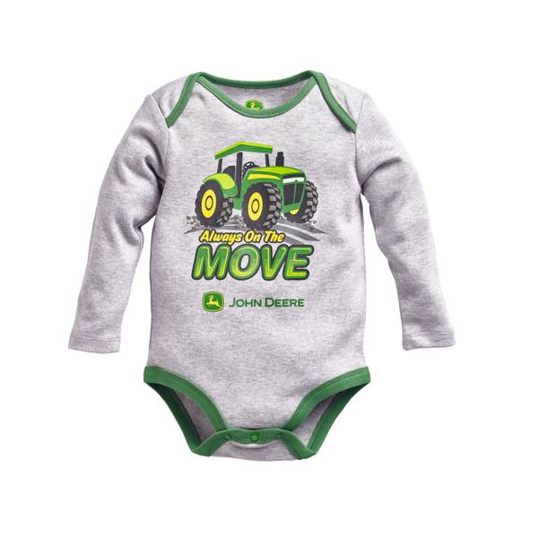 Baby Boys' Long Sleeve On The Move Bodysuit