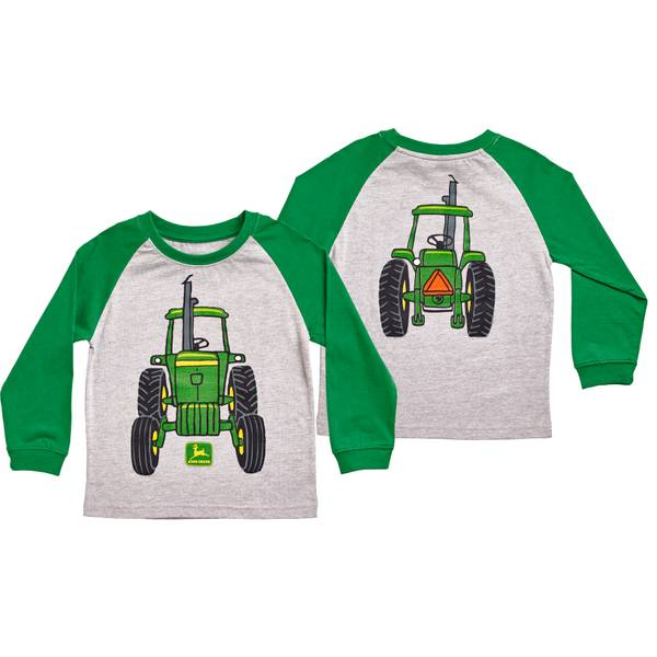 Toddler Boys' Heather Gray & Green Big Tractor T-Shirt