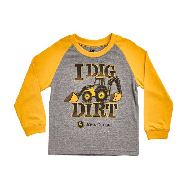 Baby Boys' Long Sleeve 'I Dig Dirt' Tee