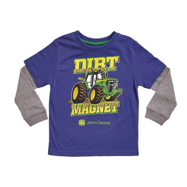 Toddler Boys'  & Medium Heather Grey Dirt Magnet Shirt