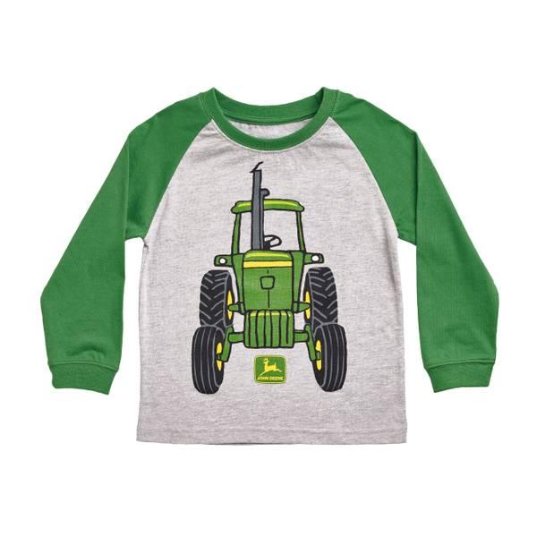 John deere toddler boys 39 heather gray green big tractor for John deere shirts for kids
