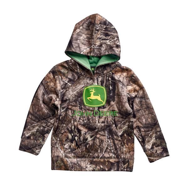 Toddler Boys' Mossy Oak Hooded Fleece Pullover