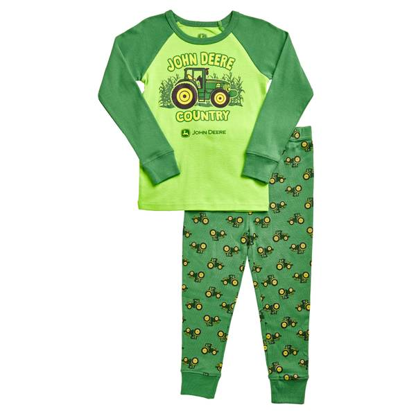 Boys' Lime  &  2-Piece JD Country Pajamas Set