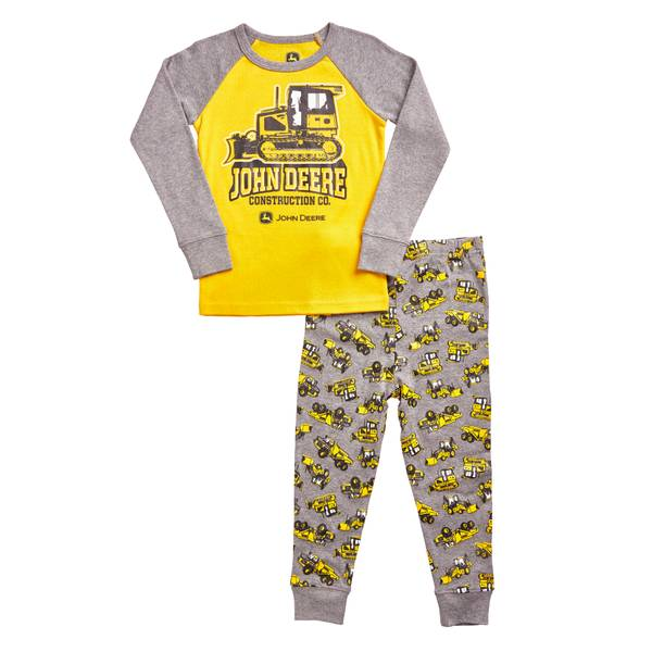 Toddler Boys' Construction Yellow & Medium Heather Gray Pajamas Set