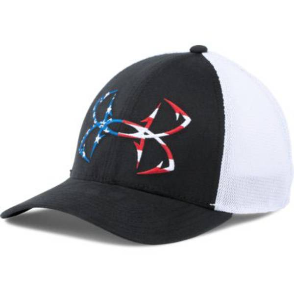 Under armour men 39 s fish hook ball cap for American flag fish hat