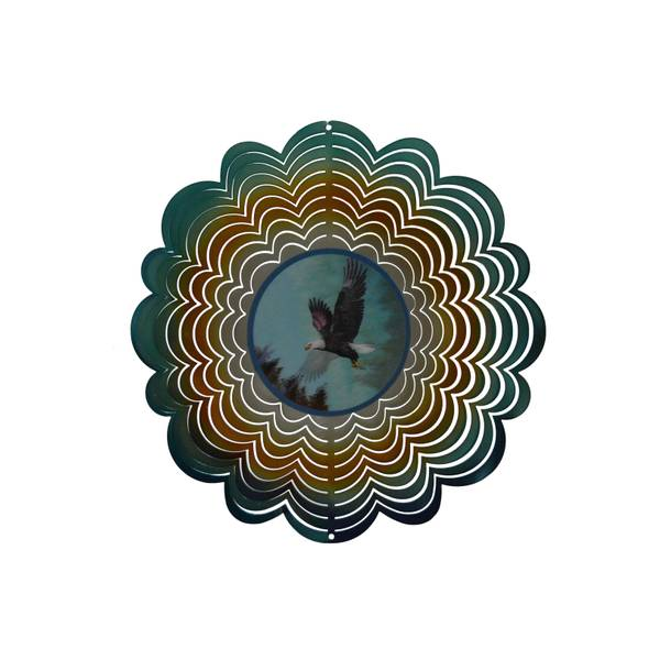 Eagle Holographic Wind Spinner