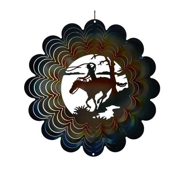 Horse Rider Die Cut Wind Spinner