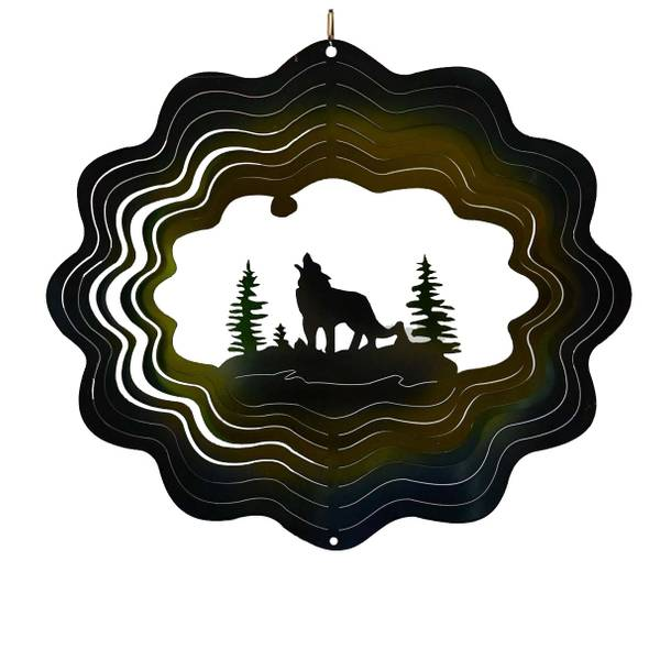 Wolf Die Cut Wind Spinner