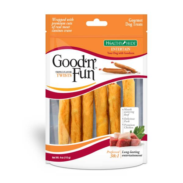 Good 'n' Fun Triple-Flavor Twists Dog Treats