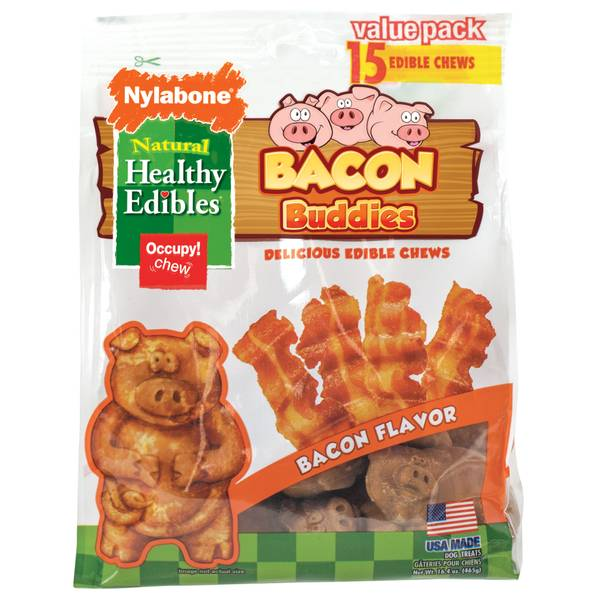 Healthy Edibles Bacon Buddies Dog Treat Chews