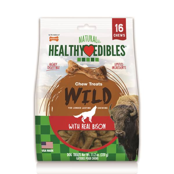 Healthy Edibles Wild Bison Flavored Dog Treat Bones