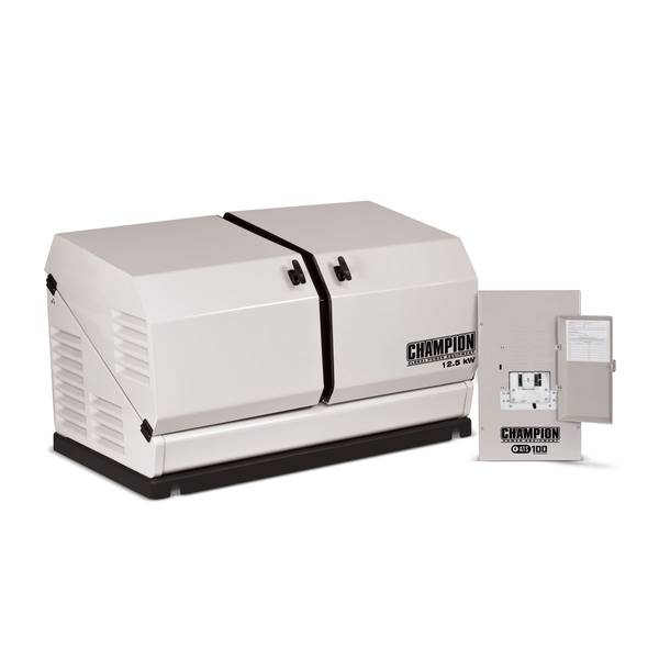 Home Standby Generator System - 12.5 kW Home Standby Generator and ATS100