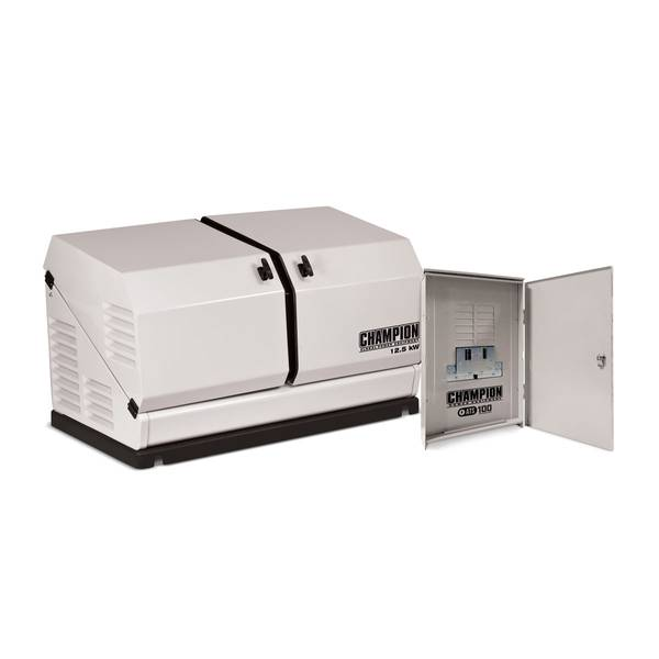 12.5 kW Home Standby Generator with ATS100 Outdoor Rated Automatic Transfer Switch