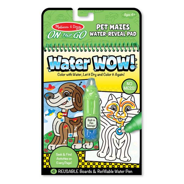 Melissa & Doug Water Wow Pet Mazes Coloring Book