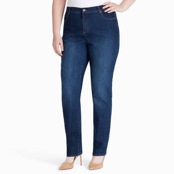 Gloria Vanderbilt Womens Plus Amanda Denim