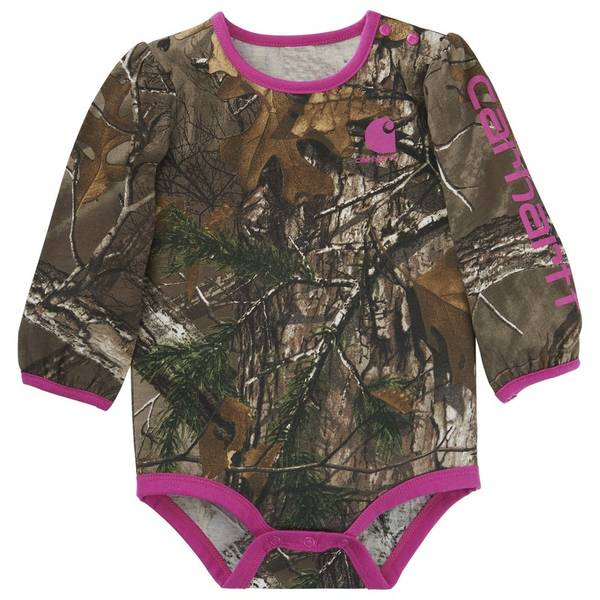Baby Boys' Long Sleeve Realtree Camouflage Bodysuit
