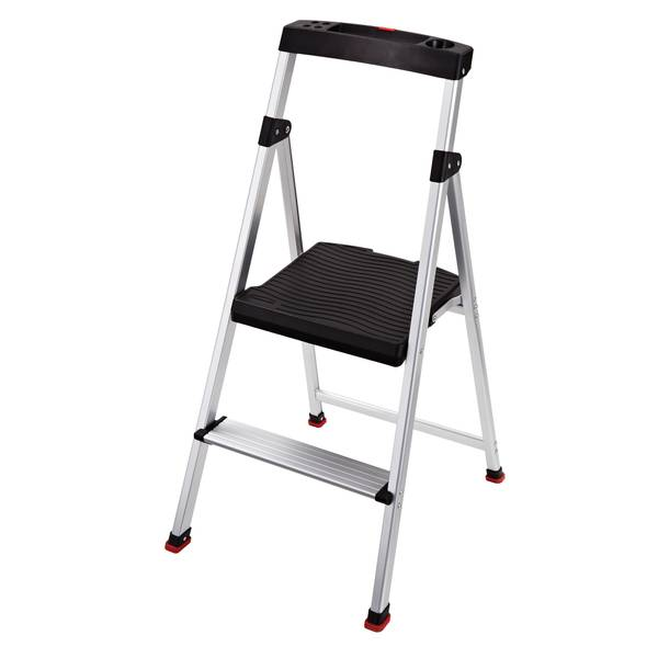 Rubbermaid 2 Step Lightweight Aluminum Step Stool