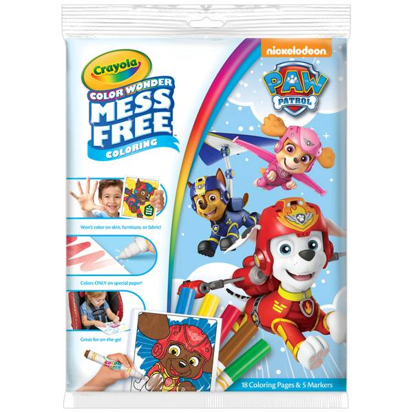 Paw Patrol Color Wonder Mess Free Coloring Pad & Markers
