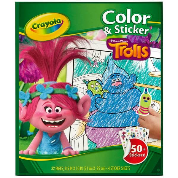 Trolls Color & Sticker Book