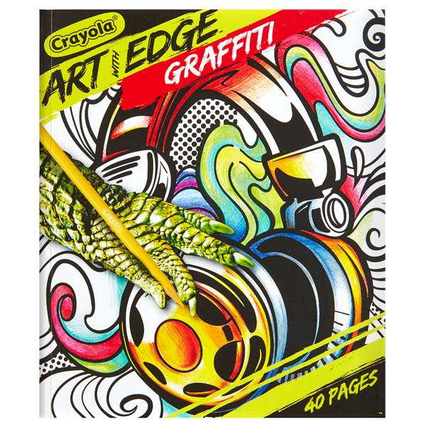 Crayola Art With Edge Graffiti Adult Coloring Book