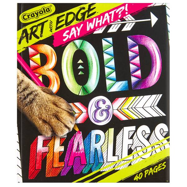 Art With Edge Say What?! Coloring Book