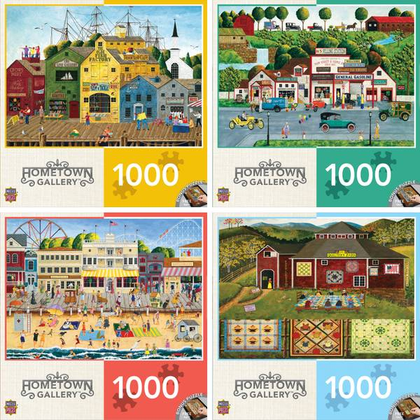 1000 pc Hometown Gallery Puzzle Assortment