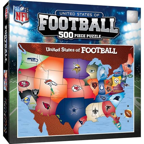 500-Piece NFL Map Puzzle