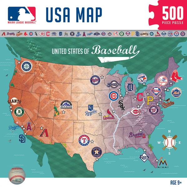 500 Piece MLB Map Puzzle