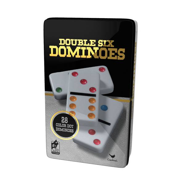 Double 6 Color Dot Dominoes Game