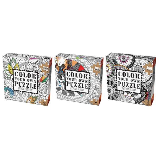 300-Piece Adult Coloring Puzzle Assortment