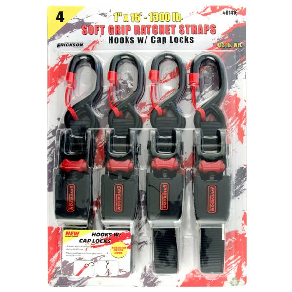Soft Grip Ratcheting Tie Down Straps