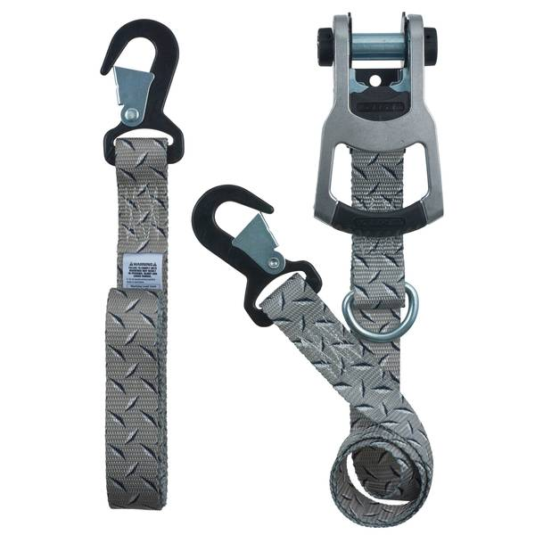 "K Series 8'x1.25"" Diamond Plate Ratchet Strap Tie Down"