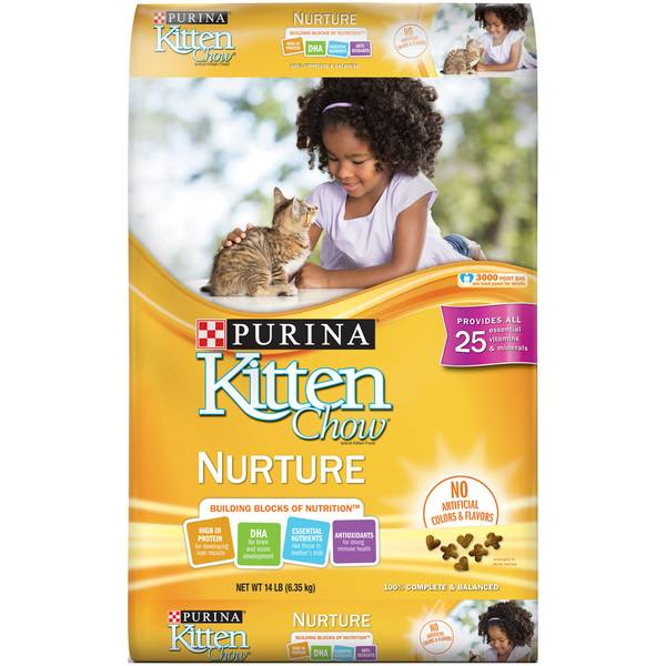 Photo of 14 lb Kitten Chow Nurturing Formula Dry Cat Food