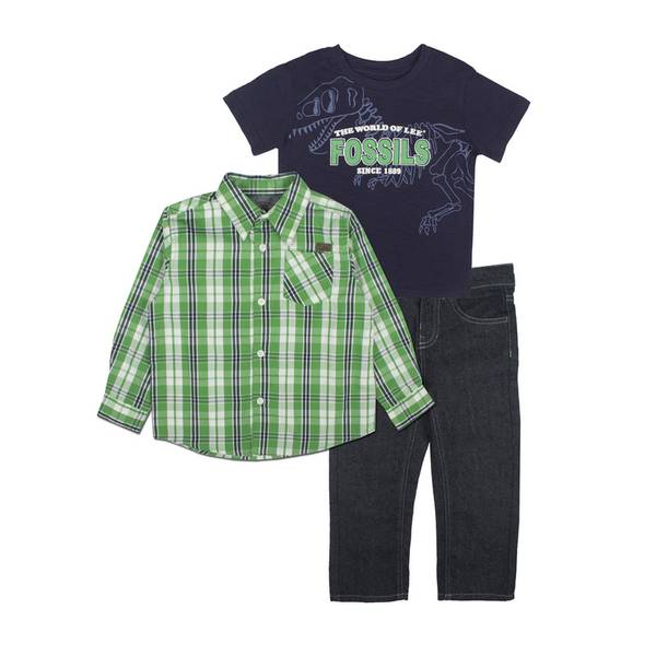 Baby Boys'  & Blue Shirts & Pants Set