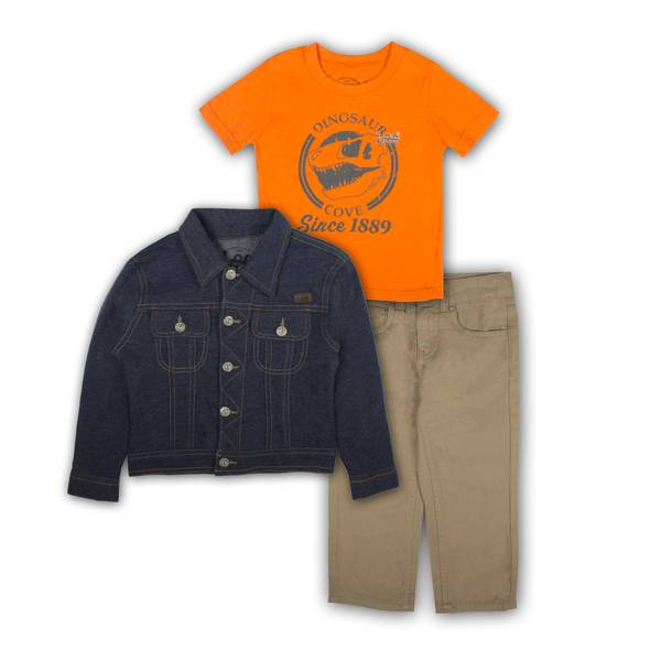 Baby Boys'  & Orange Shirts & Pants Set