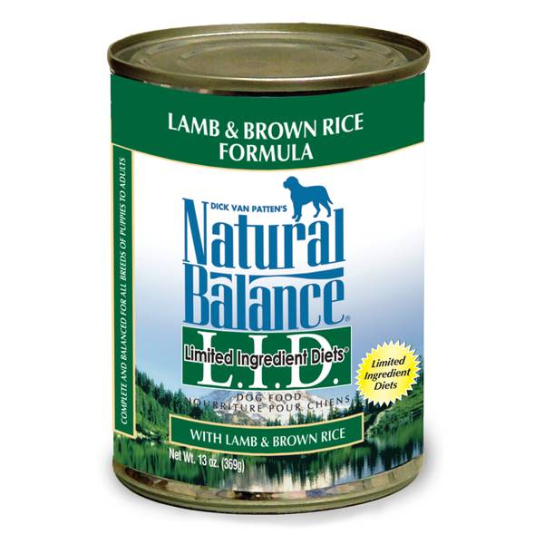 L.I.D. Lamb & Rice Canned Dog Food