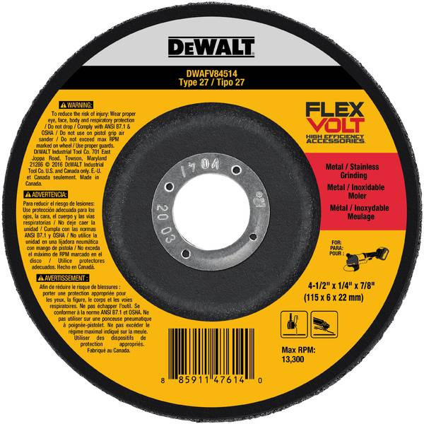 FLEXVOLT T27 Grinding Wheel